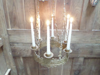 Antique French Church gothic Lustre Chandelier 5