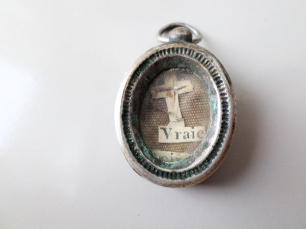 Holy Relics Christian Relic Theca True Cross Vraie Croix front