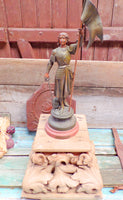 Antique Joan Of Arc french Spelter Statue r46 Free Shipping