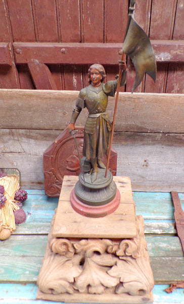 Antique Joan Of Arc french Spelter Statue