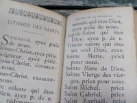 "Antique Religious Book French ""Paraoissien Romain"" circa 1900  r45 Free Shipping"