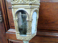 Antique French Church Gothic Procession Lantern Candle Holder r07 Free Shipping