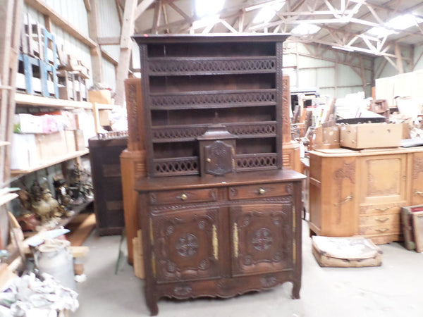 French Antique cupboard Dresser vaisselier with unusual tabernacle XIXe century