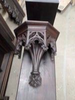 French Antique Religious Gothic Statue Console 1700s