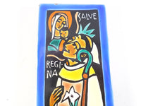 Religious Abbey Monk's Tile Wisques Abbey Hand Made Saint Bernard t269 Free Shipping