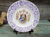 Sarreguemines Collectible Plate Saint Michel Saint Michael St. Michael the Archangel