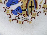 Sarreguemines Collectible Plate Saint Michel Saint Michael St. Michael the Archangel closeup 2