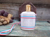 Vintage French Souvenir ND de Lourdes Flask