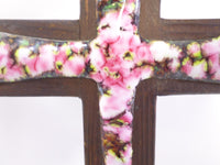 Pink Enamel Cross Crucifix French Antiques t396 Free Shipping