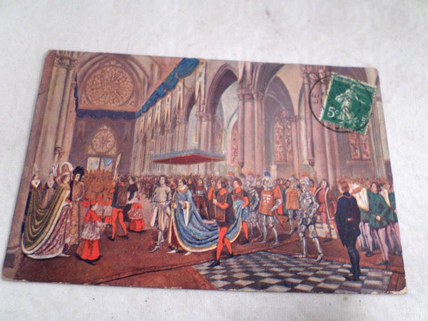 Color Postcard Joan of Arc Jeanne D'Arc circa 1910 Jeanne Coronation of Charles VII v629 Free Shipping