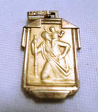 Saint Christophe Medal Pendant Fix gold plated circa 1935 v593