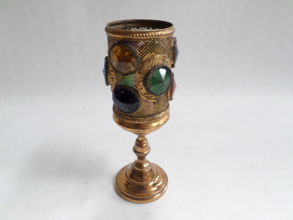 French Antique Religious Dollhouse Chalice circa 1890  front