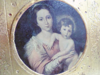 Vintage Religious Murillo Reproduction Gilt frame v852 Free Shipping