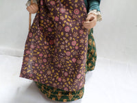 Vintage French Santon Provence Old Lady with a walking stick v919 Free Shipping