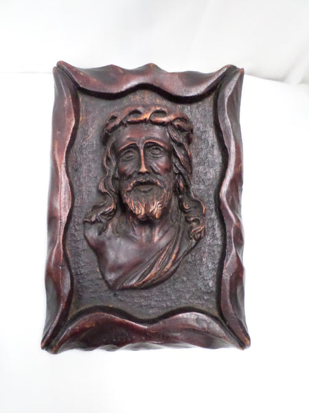 French Sculpture of Jesus Christ signed Jean Le Paranthoen (1914-2000) front