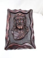 French Sculpture of Jesus Christ signed Jean Le Paranthoen (1914-2000) front 1