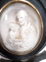Antique Meerschaum Holy Water Font closeup front 2