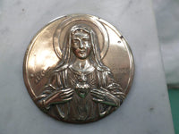 Religious devotional Objets Marble and Brass Our Lady Mary signed Ruffony v300 Free Shipping
