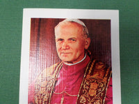 French Vintage Souvenir Pope John-Paul II card 80s v321 Free Shipping