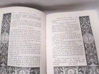 "Religious Book French ""Missel Romain"" 1887 engraving"