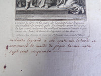 hand writing confirmation easter 1750 Etching