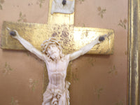 Vintage French Florentine Gilt Crucifix Frame t387 Free Shipping