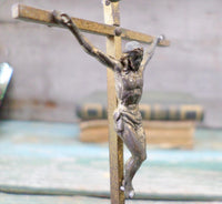 French Antique Travel Crucifix