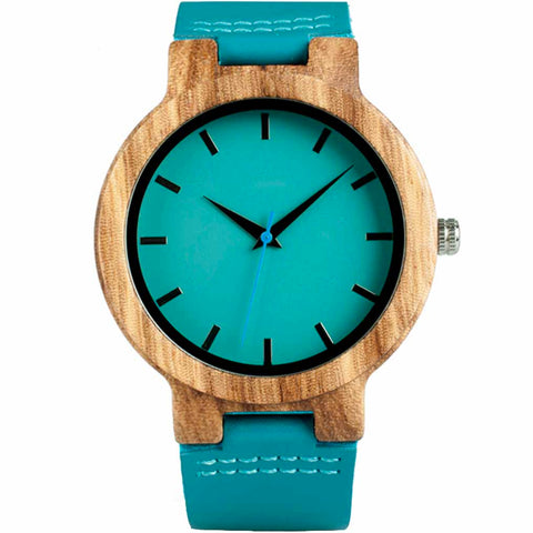 Image of The Teal Me Wood Watch