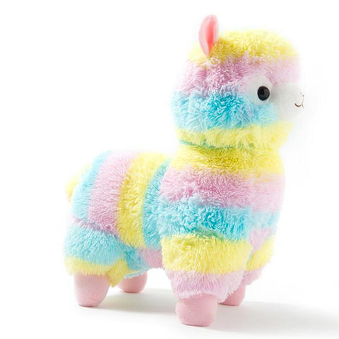 Image of Rainbow Alpaca Plush