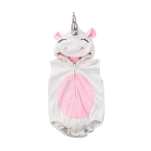 Unicorn Romper Suit with Hoodie