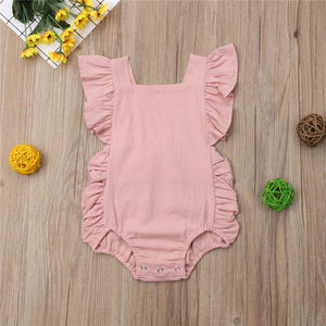 Baby Girl Ruffled Romper