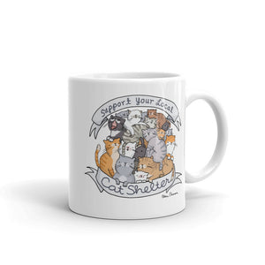 Support Your Local Cat Shelter Mug