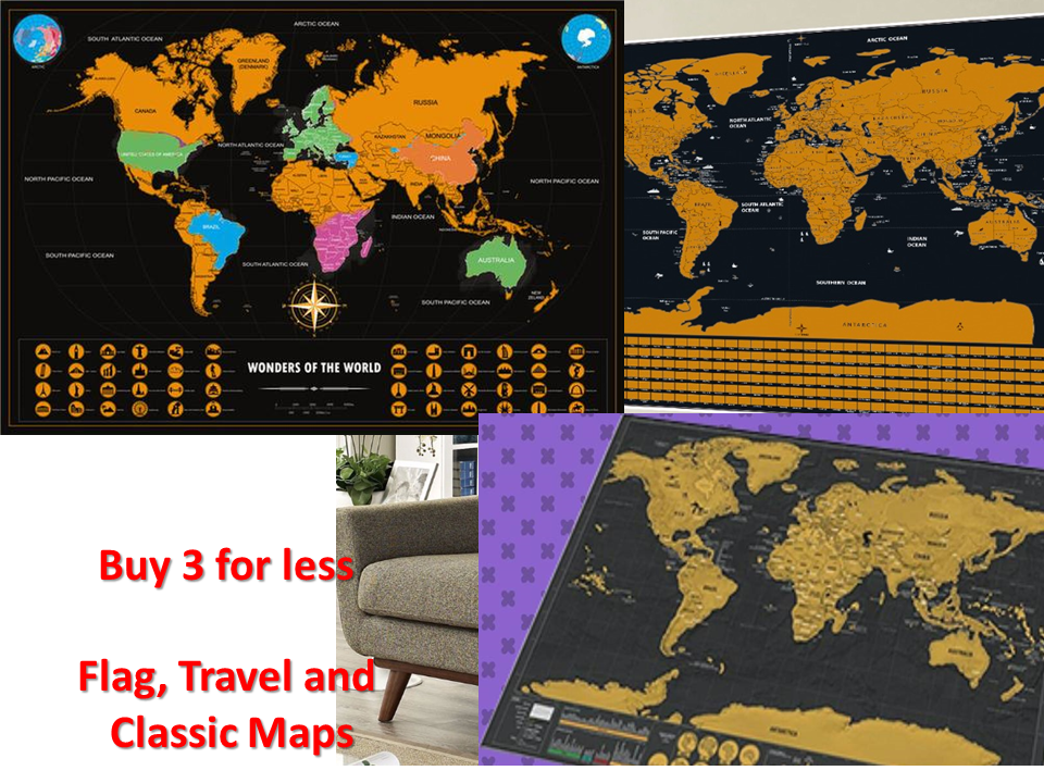 Deluxe scratch off world map travel around the world chelle deluxe scratch off world map travel around the world gumiabroncs Gallery