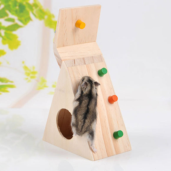 Multi-Function Hamsters Pet Toy Natural Wooden Colorful Scaling Ladder for Pet Rat or Hamsters