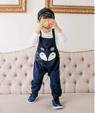 Toddler kids rompers cute cartoon Fox Totoro baby bib pants Unisex