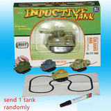 Mini Magic Toy Truck Children's Inductive Truck Tank Car Pen Draw Lines Induction Rail