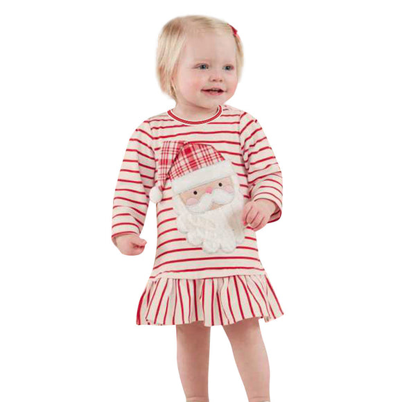 Girl Dress Kids Clothes Santa Claus Christmas Dresses