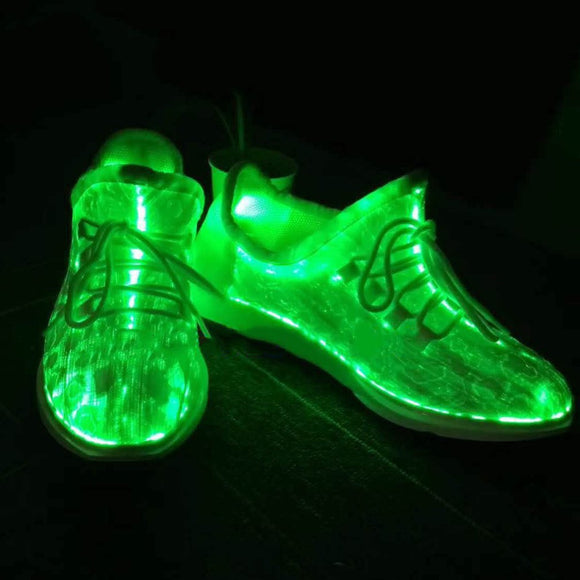 7 LED Luminous Dance Shoes Sneakers Lace Shoes Colorful Glowing Shoes Party