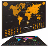 Deluxe Scratch Off World Map Travel Around The World