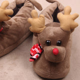 Unisex Plush Cotton Winter Warm Indoor Christmas Home Slippers