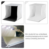 Portable Folding Mini Lightbox Photography Studio Softbox with LED Light