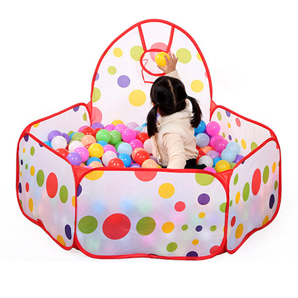 Large Children Kids Ocean Ball Pit Pool Game Play with Ball Hoop Indoor