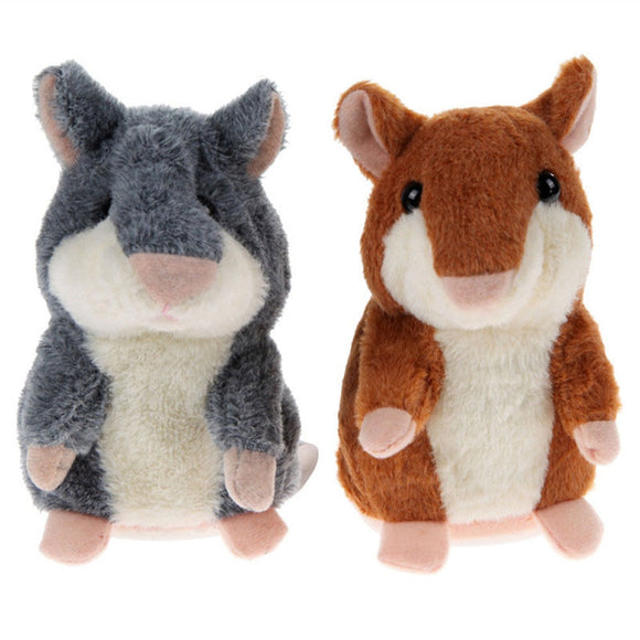 HOT Lovely Talking Hamster Plush Toy Cute Speak Talking Sound Record