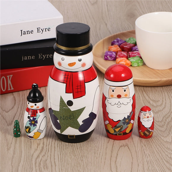 5 Cutie Nesting Dolls Adorable Russian Stacking Dolls Collection Toy