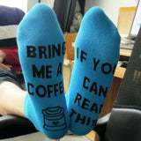 If You Can Read This Bring Me a Glass of Wine/Beer/Coffee/Kiss - Unisex Socks