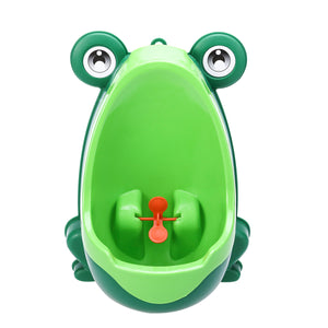 Frog Shaped Boys Potty Training Urinal with Whirling Target