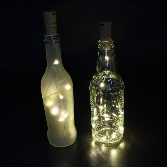 4pcs 75cm 15 LED Wine Bottle Cork String Lights Waterproof Fairy Nightlights