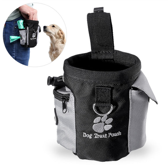 Dog Treat Pouch Pet Hands Free Training Waist Bag Drawstring Carries  Food Poop Bag