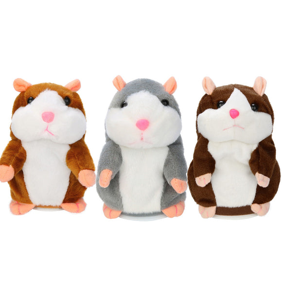 Talking Hamster Mouse Pet Plush Sound Record Educational Toy