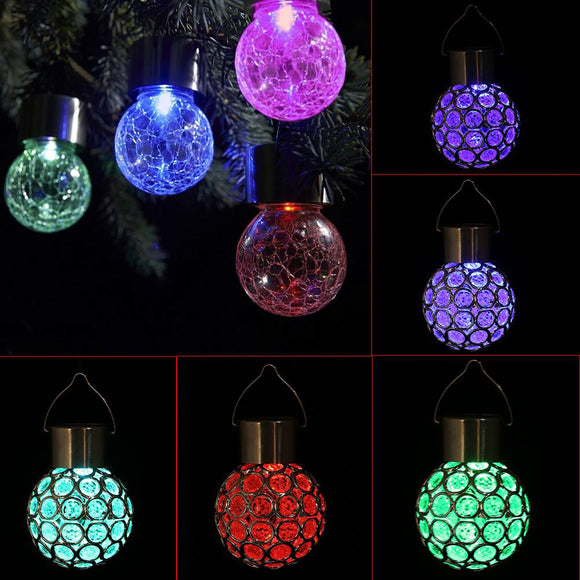 Colorful Solar Powered LED Hanging Light Outdoor Decorations Home Decor
